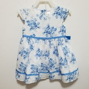 George blue and white dress